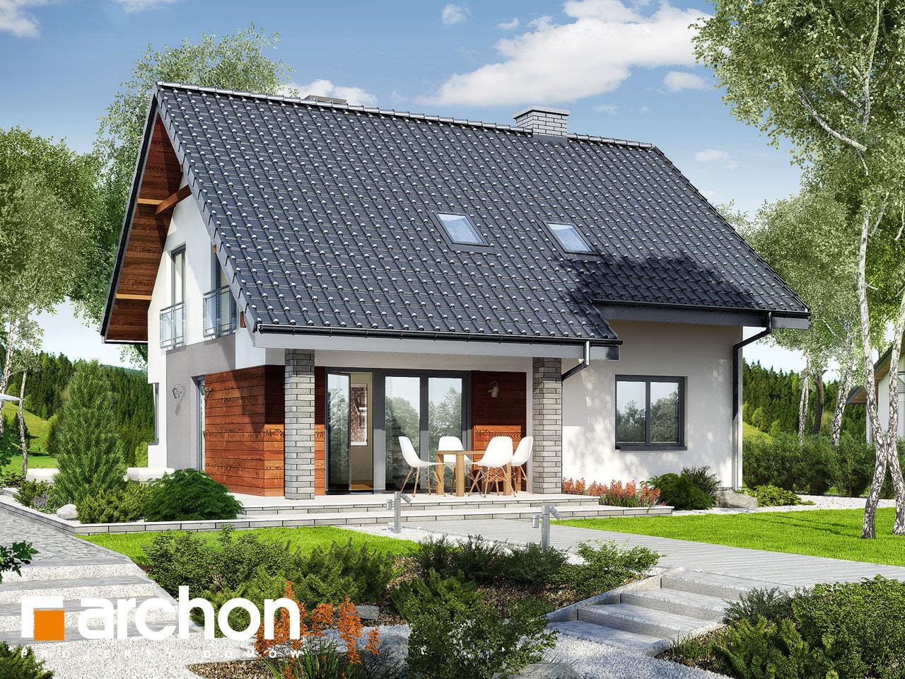 Проект дома ARCHON+ Дом в малиновках (Т) Вид 2