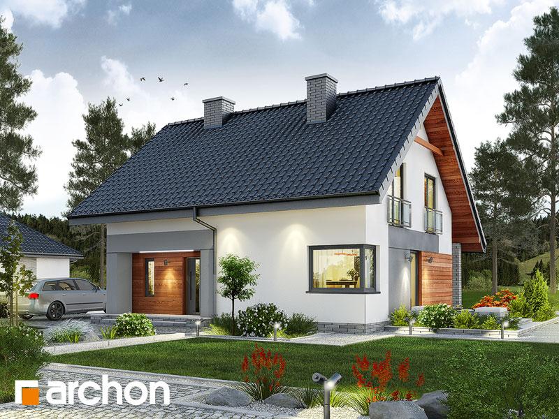 Проект дома ARCHON+ Дом в малиновках (Т) Вид 1
