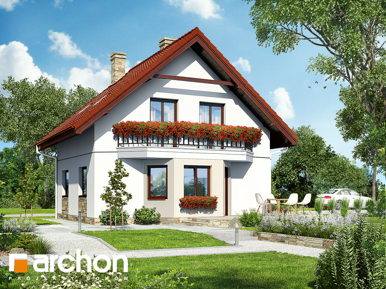 Проект будинку ARCHON+ Будинок в камах Вид 2