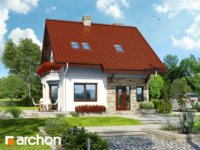 Проект дома ARCHON+ Дом в камах Вид 1