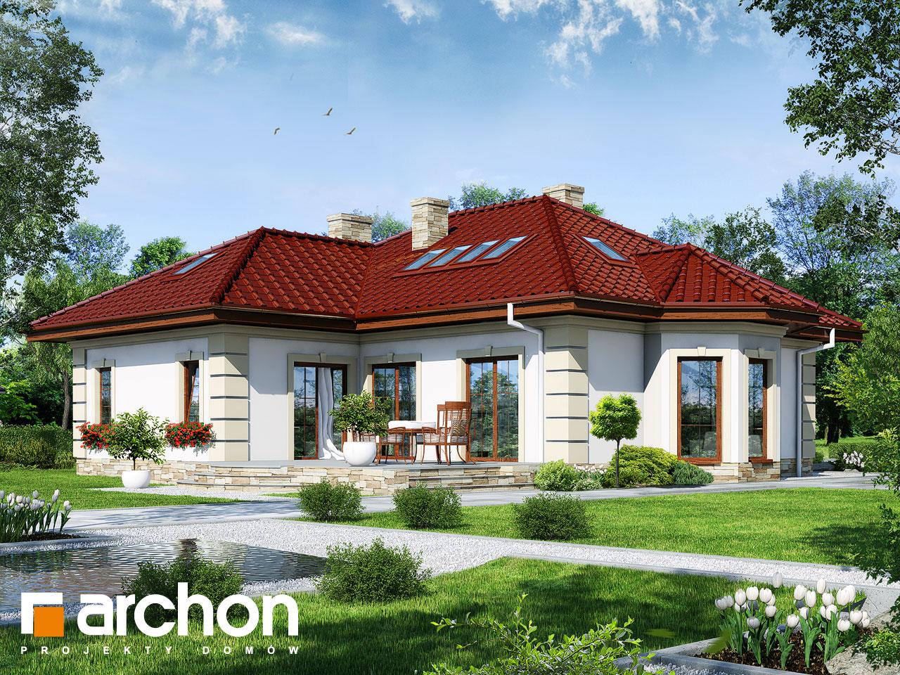 Проект будинку ARCHON+ Будинок в миколайках 2 (Г2) Вид 2
