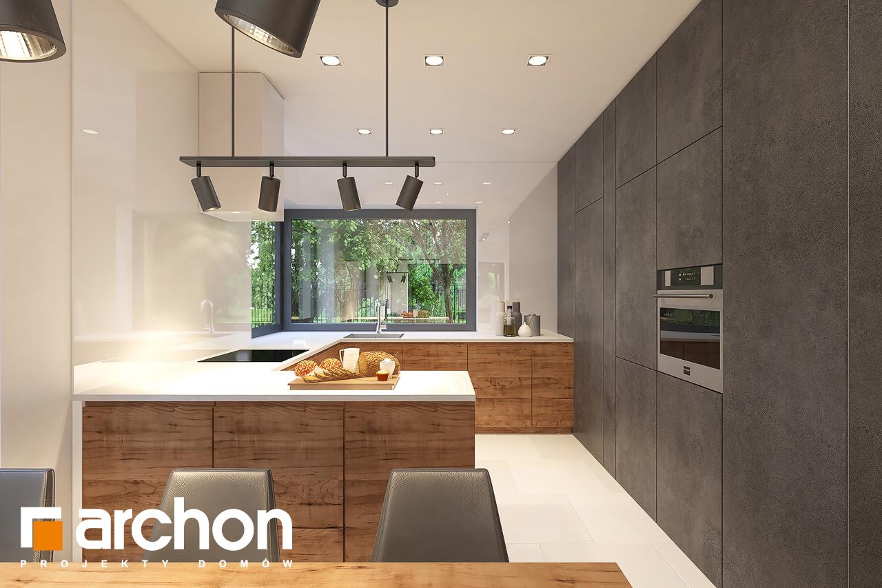 Проект будинку ARCHON+ Будинок в лещиновнику 6 візуалізація кухні 1 від 1