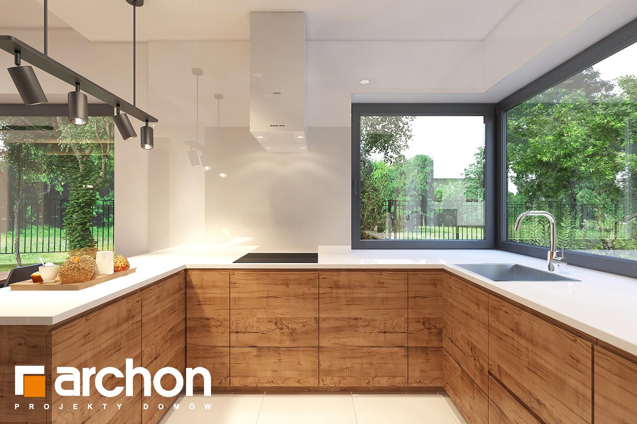 Проект будинку ARCHON+ Будинок в лещиновнику 6 візуалізація кухні 1 від 2