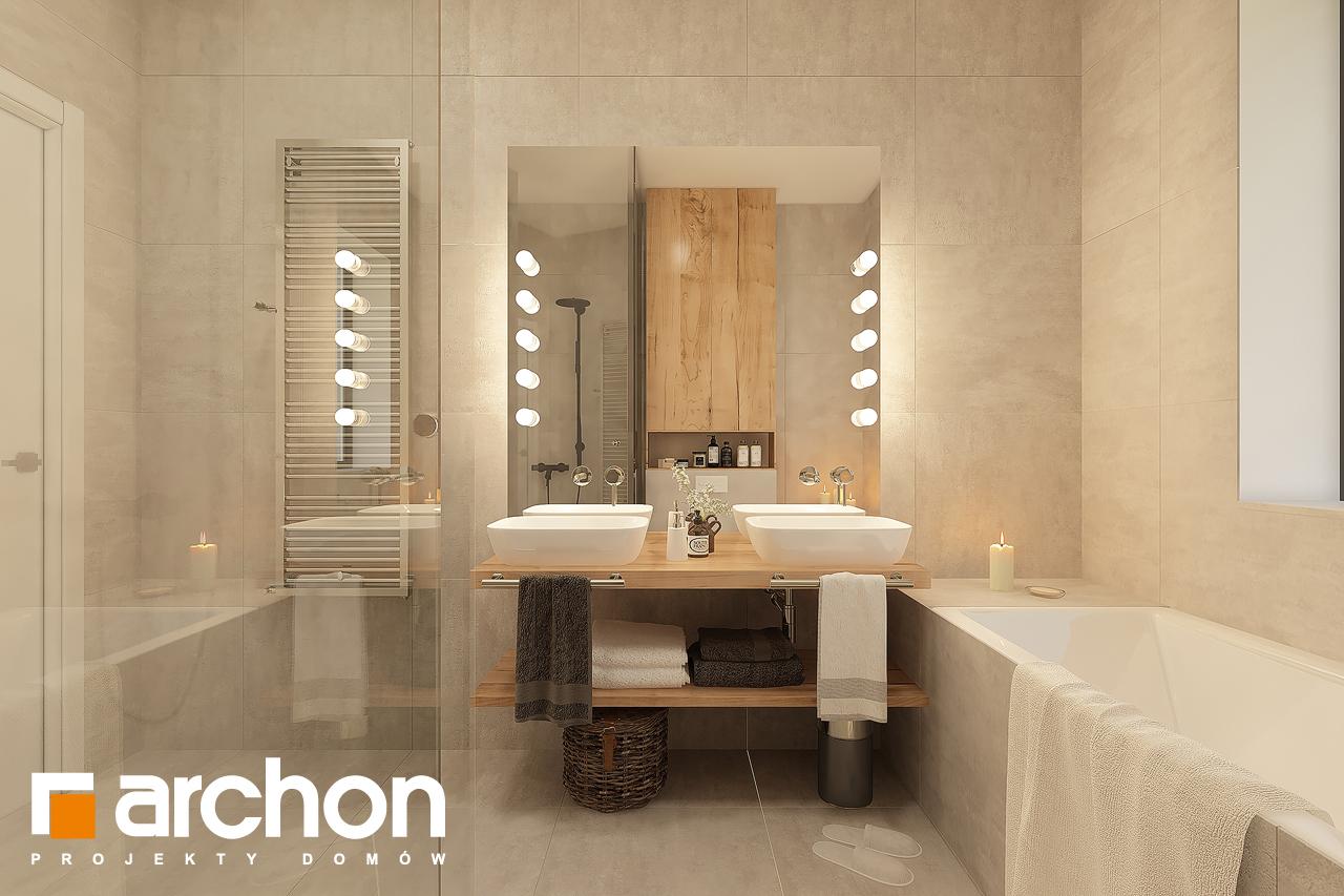 Проект будинку ARCHON+ Будинок в лещиновнику 6 візуалізація ванни (візуалізація 3 від 1)