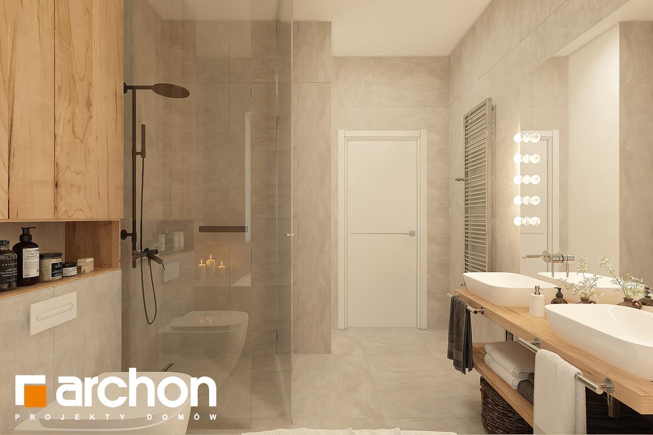 Проект будинку ARCHON+ Будинок в лещиновнику 6 візуалізація ванни (візуалізація 3 від 2)