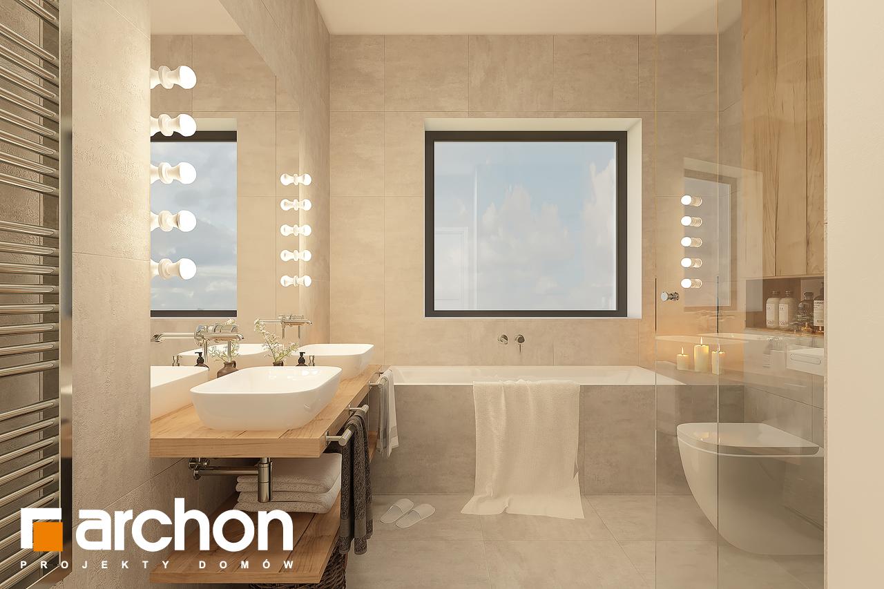 Проект будинку ARCHON+ Будинок в лещиновнику 6 візуалізація ванни (візуалізація 3 від 3)