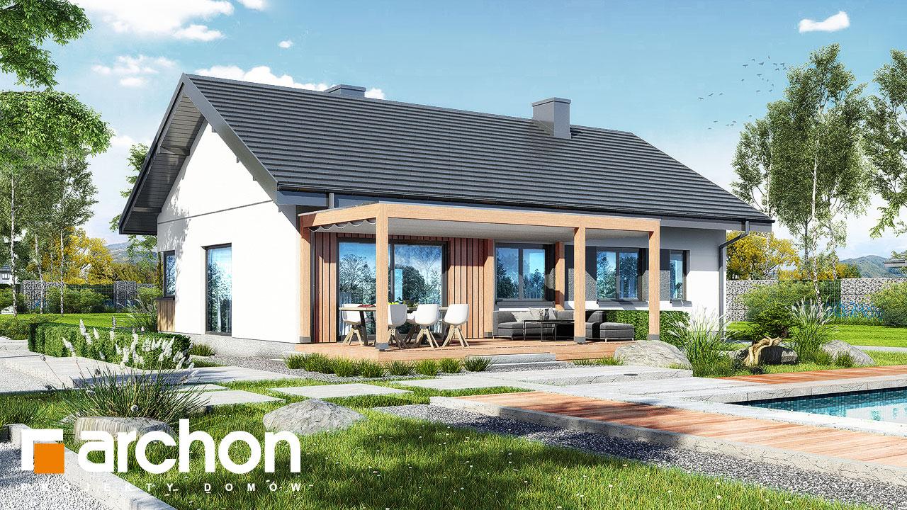 Проект будинку ARCHON+ Будинок в лещиновнику 6 Вид 2