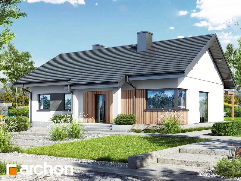 Проект будинку ARCHON+ Будинок в лещиновнику 6 Вид 1
