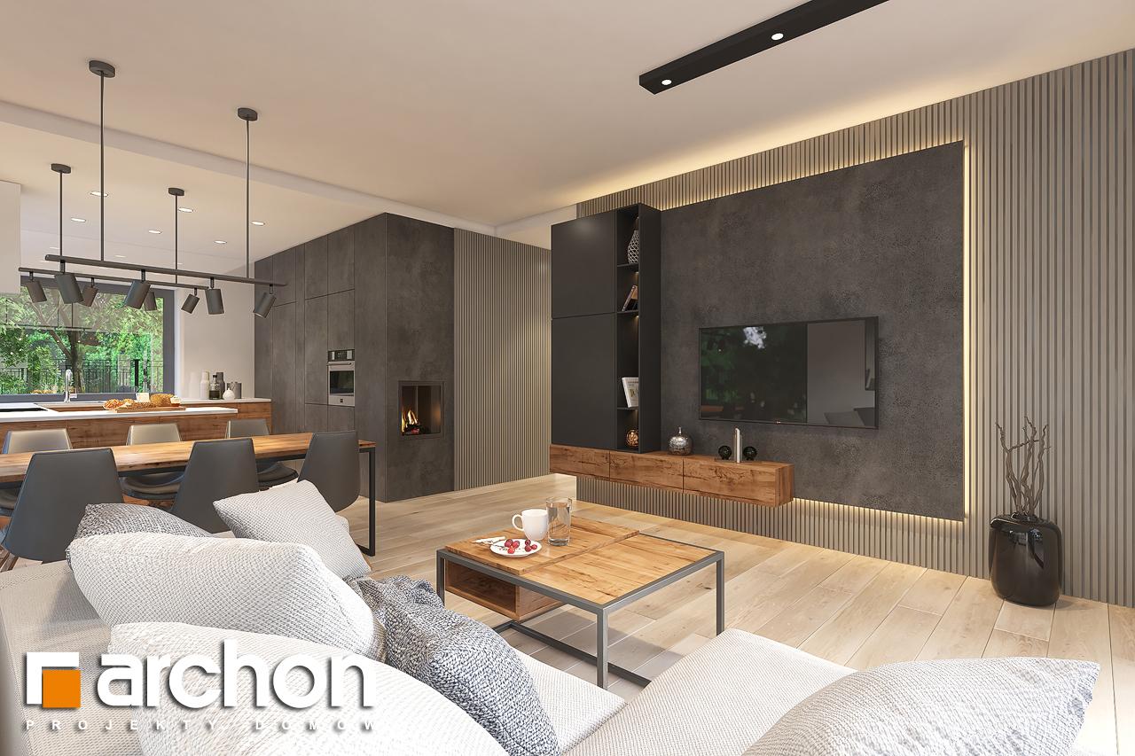 Проект будинку ARCHON+ Будинок в лещиновнику 6 денна зона (візуалізація 1 від 1)