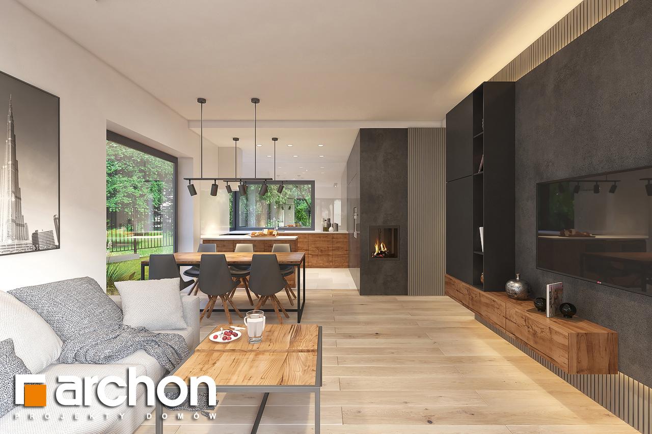 Проект будинку ARCHON+ Будинок в лещиновнику 6 денна зона (візуалізація 1 від 4)