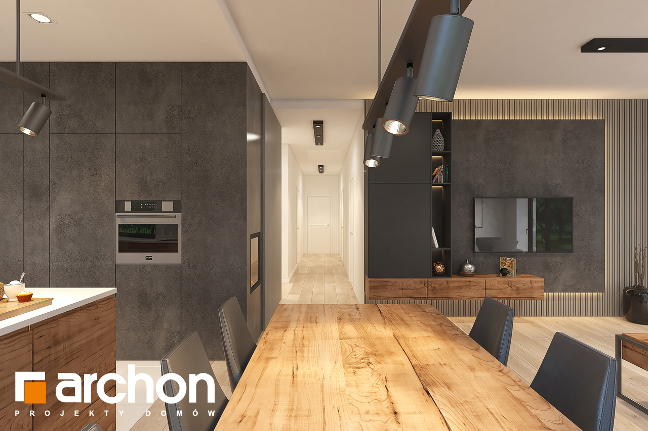 Проект будинку ARCHON+ Будинок в лещиновнику 6 денна зона (візуалізація 1 від 5)