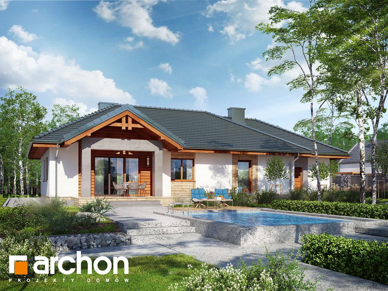 Проект будинку ARCHON+ Будинок в лещиновнику 5 Вид 2