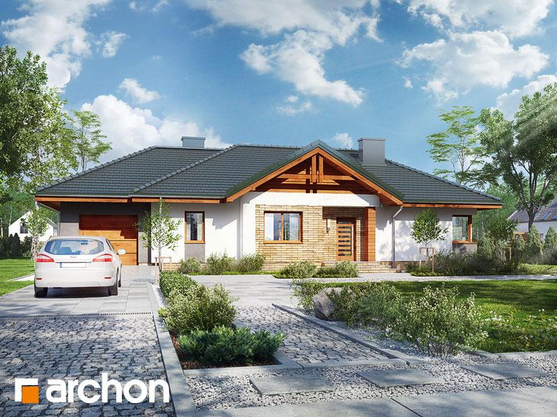 Проект будинку ARCHON+ Будинок в лещиновнику 5 Вид 1
