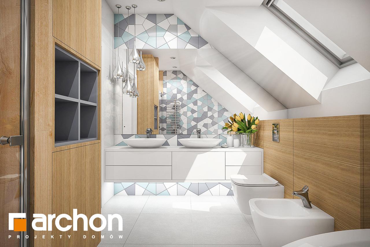 Проект будинку ARCHON+ Будинок в малинівці 2 візуалізація ванни (візуалізація 3 від 1)