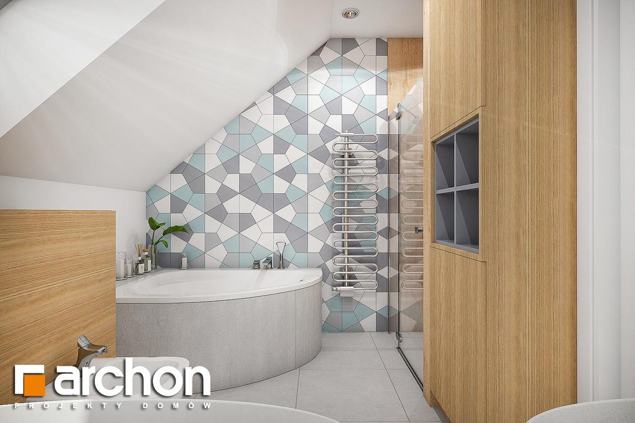 Проект будинку ARCHON+ Будинок в малинівці 2 візуалізація ванни (візуалізація 3 від 2)