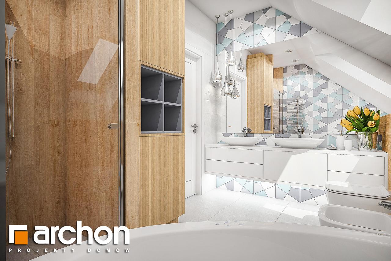 Проект будинку ARCHON+ Будинок в малинівці 2 візуалізація ванни (візуалізація 3 від 3)