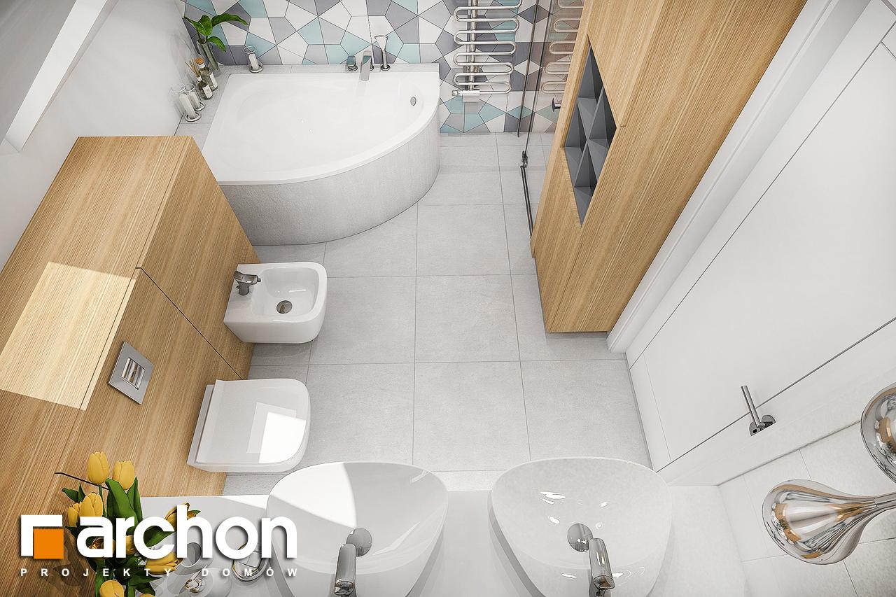 Проект будинку ARCHON+ Будинок в малинівці 2 візуалізація ванни (візуалізація 3 від 4)