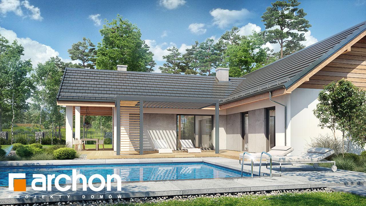 Проект дома ARCHON+ Дом в мажанках  додаткова візуалізація