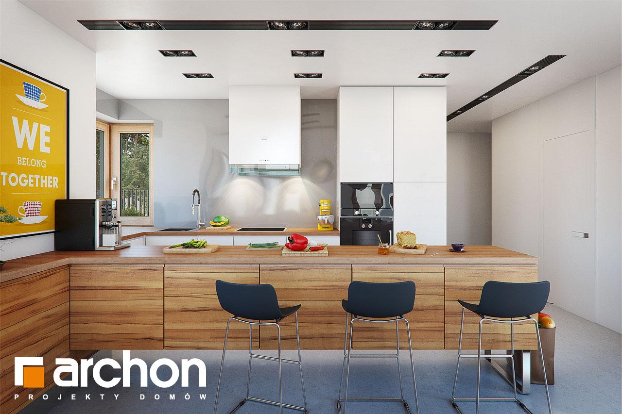 Проект дома ARCHON+ Дом в мажанках  визуализация кухни 1 вид 1