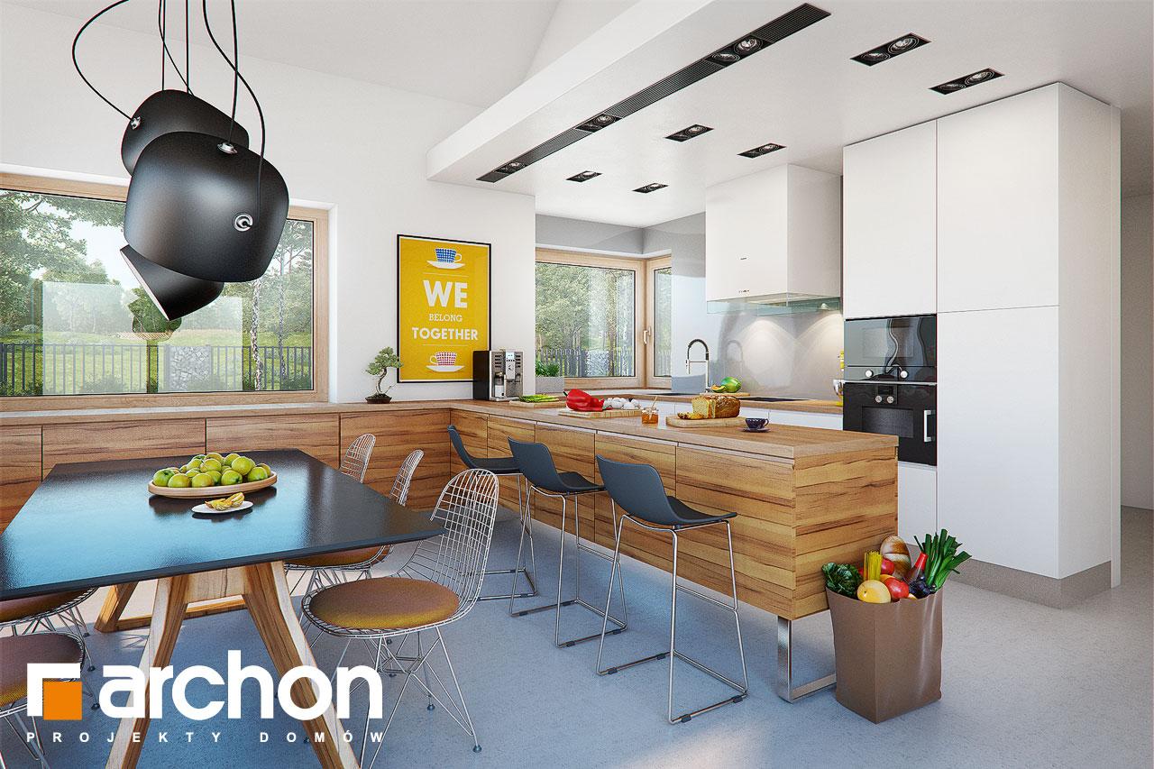 Проект дома ARCHON+ Дом в мажанках  визуализация кухни 1 вид 2