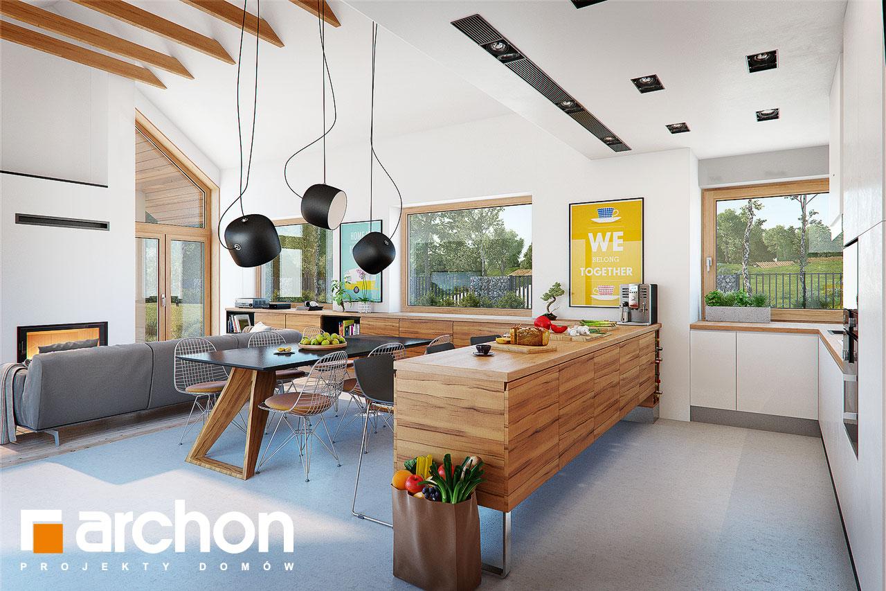 Проект дома ARCHON+ Дом в мажанках  визуализация кухни 1 вид 3