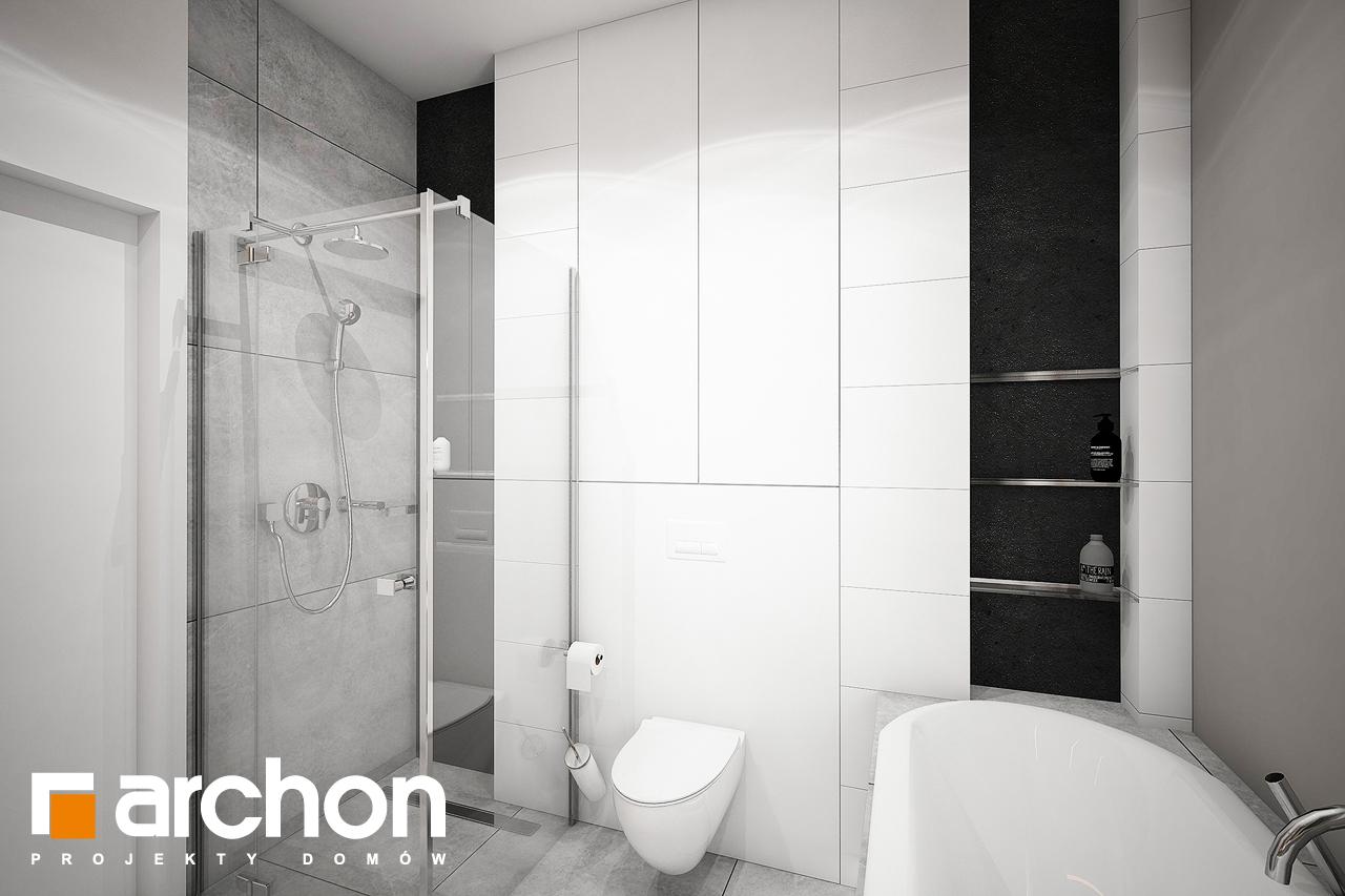 Проект будинку ARCHON+ Будинок в мажанках візуалізація ванни (візуалізація 3 від 2)
