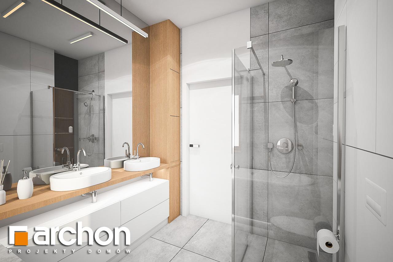 Проект будинку ARCHON+ Будинок в мажанках візуалізація ванни (візуалізація 3 від 3)