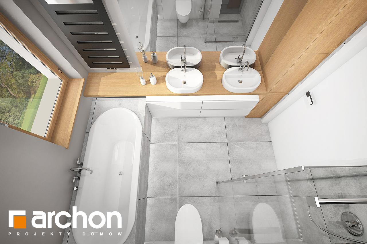Проект будинку ARCHON+ Будинок в мажанках візуалізація ванни (візуалізація 3 від 4)