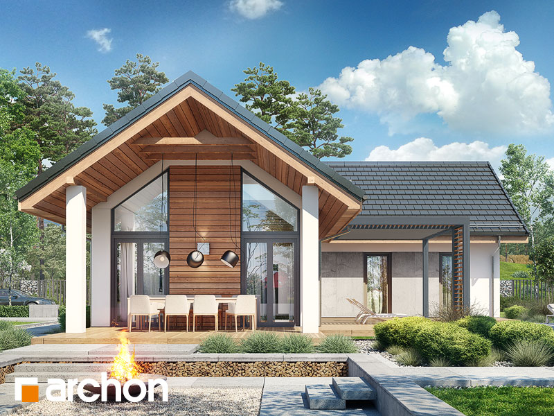 Проект будинку ARCHON+ Будинок в мажанках Вид 1
