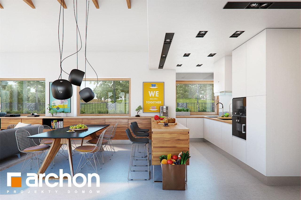 Проект дома ARCHON+ Дом в мажанках  дневная зона (визуализация 1 вид 2)