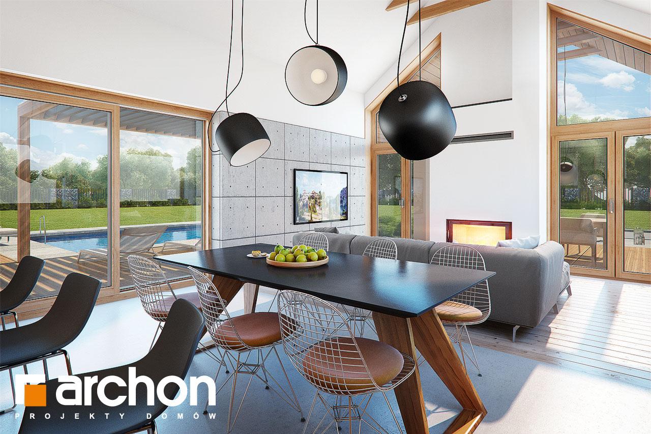 Проект дома ARCHON+ Дом в мажанках  дневная зона (визуализация 1 вид 3)
