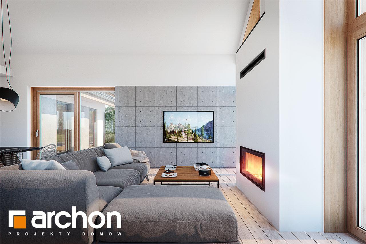Проект дома ARCHON+ Дом в мажанках  дневная зона (визуализация 1 вид 5)