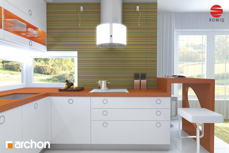 Проект дома ARCHON+ Дом в кардамоне 2 аранжировка кухни 1 вид 2