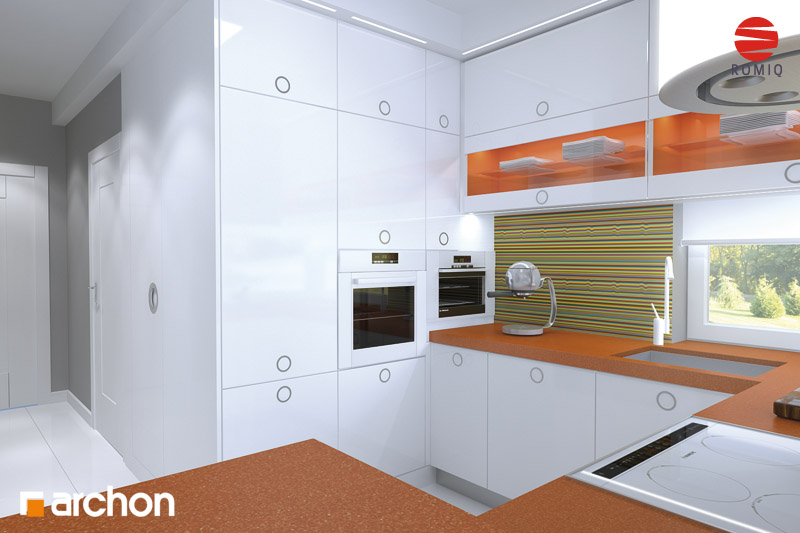 Проект дома ARCHON+ Дом в кардамоне 2 аранжировка кухни 1 вид 3