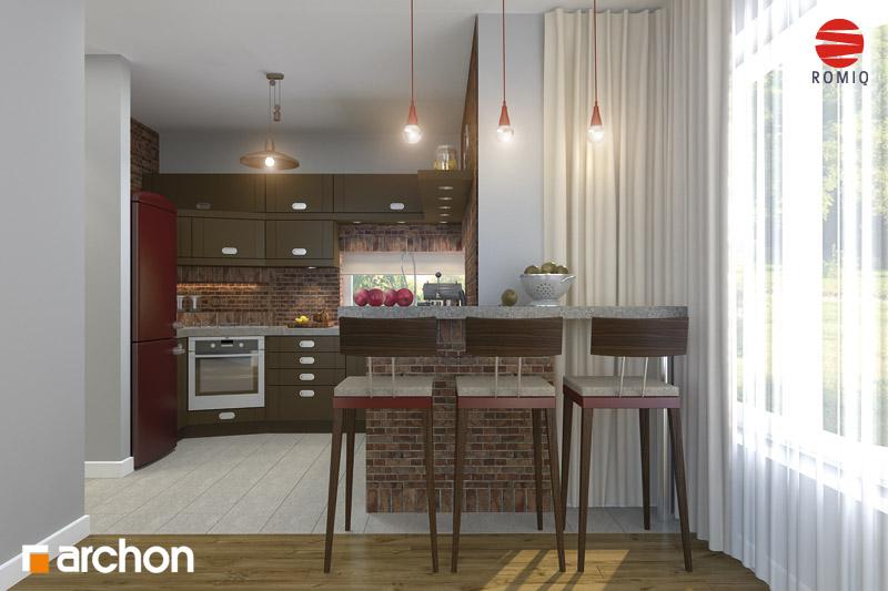 Проект будинку ARCHON+ Будинок в кардамоні 2 аранжування кухні 2 від 1