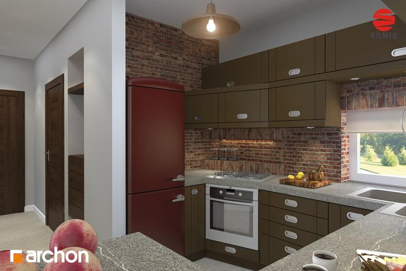 Проект дома ARCHON+ Дом в кардамоне 2 аранжировка кухни 2 вид 2