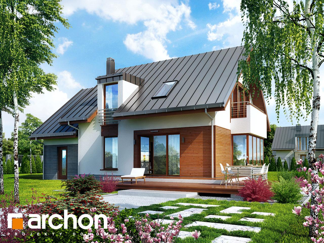 Проект дома ARCHON+ Дом в кардамоне 2 Вид 2