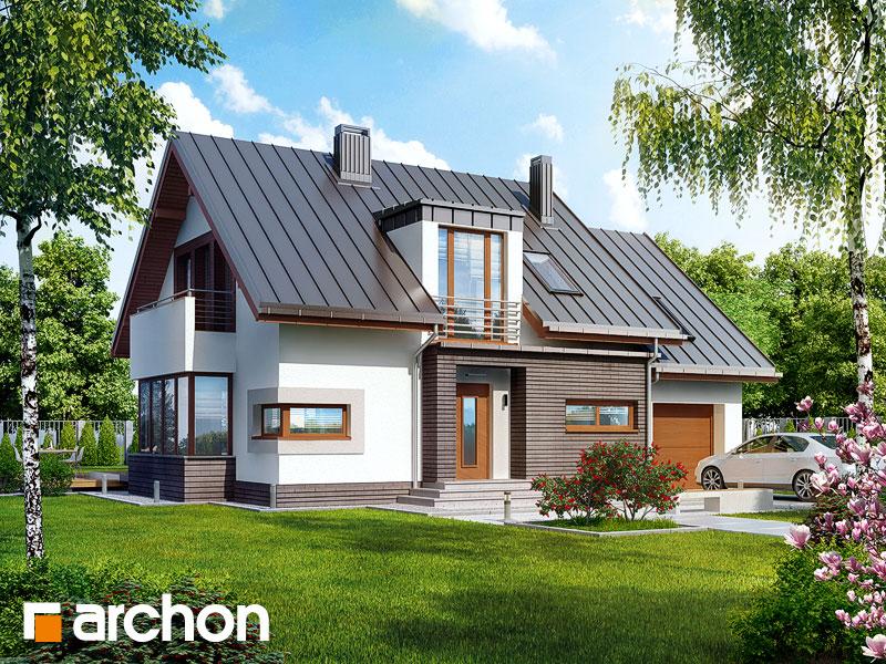 Проект дома ARCHON+ Дом в кардамоне 2 Вид 1