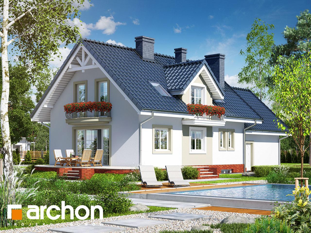 Проект будинку ARCHON+ Будинок в вербені 7 (Г2П) Вид 2