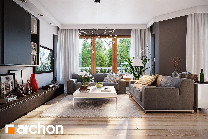 Проект будинку ARCHON+ Будинок в мірабеллі (П) денна зона (візуалізація 2 від 1)
