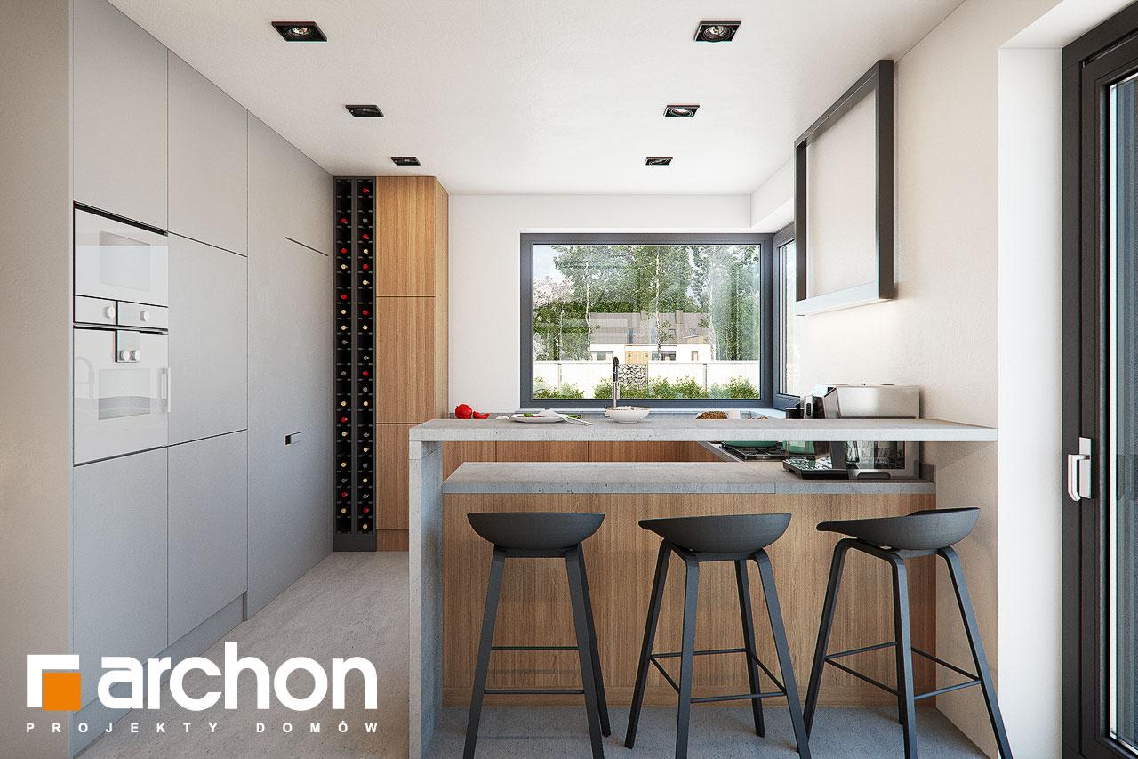 Проект будинку ARCHON+ Будинок в нігеллах 3 (Г2) візуалізація кухні 1 від 1