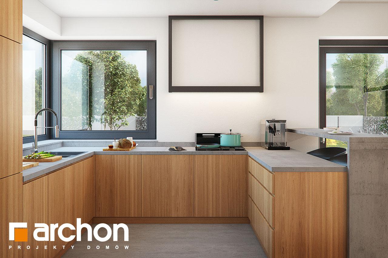 Проект будинку ARCHON+ Будинок в нігеллах 3 (Г2) візуалізація кухні 1 від 2