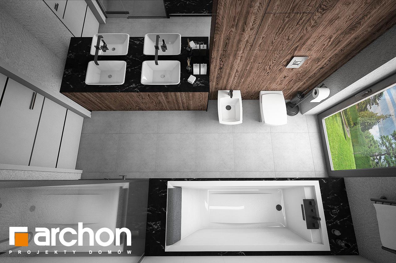 Проект будинку ARCHON+ Будинок в нігеллах 3 (Г2) візуалізація ванни (візуалізація 3 від 4)