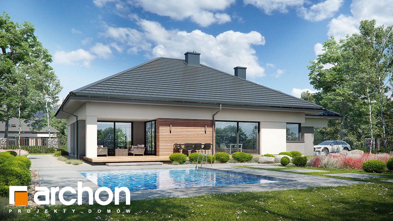 Проект будинку ARCHON+ Будинок в нігеллах 3 (Г2) Вид 2