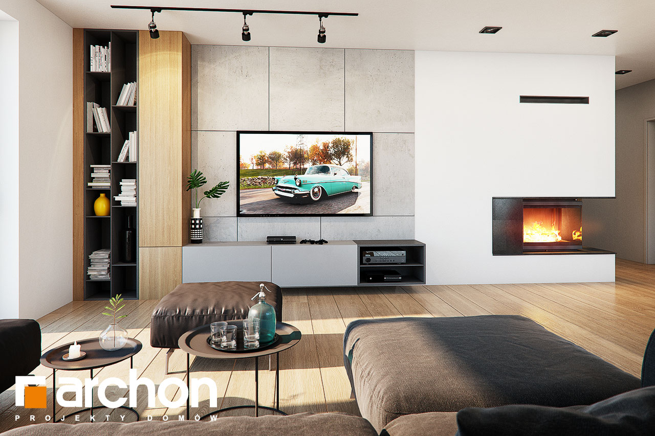 Проект будинку ARCHON+ Будинок в нігеллах 3 (Г2) денна зона (візуалізація 1 від 1)