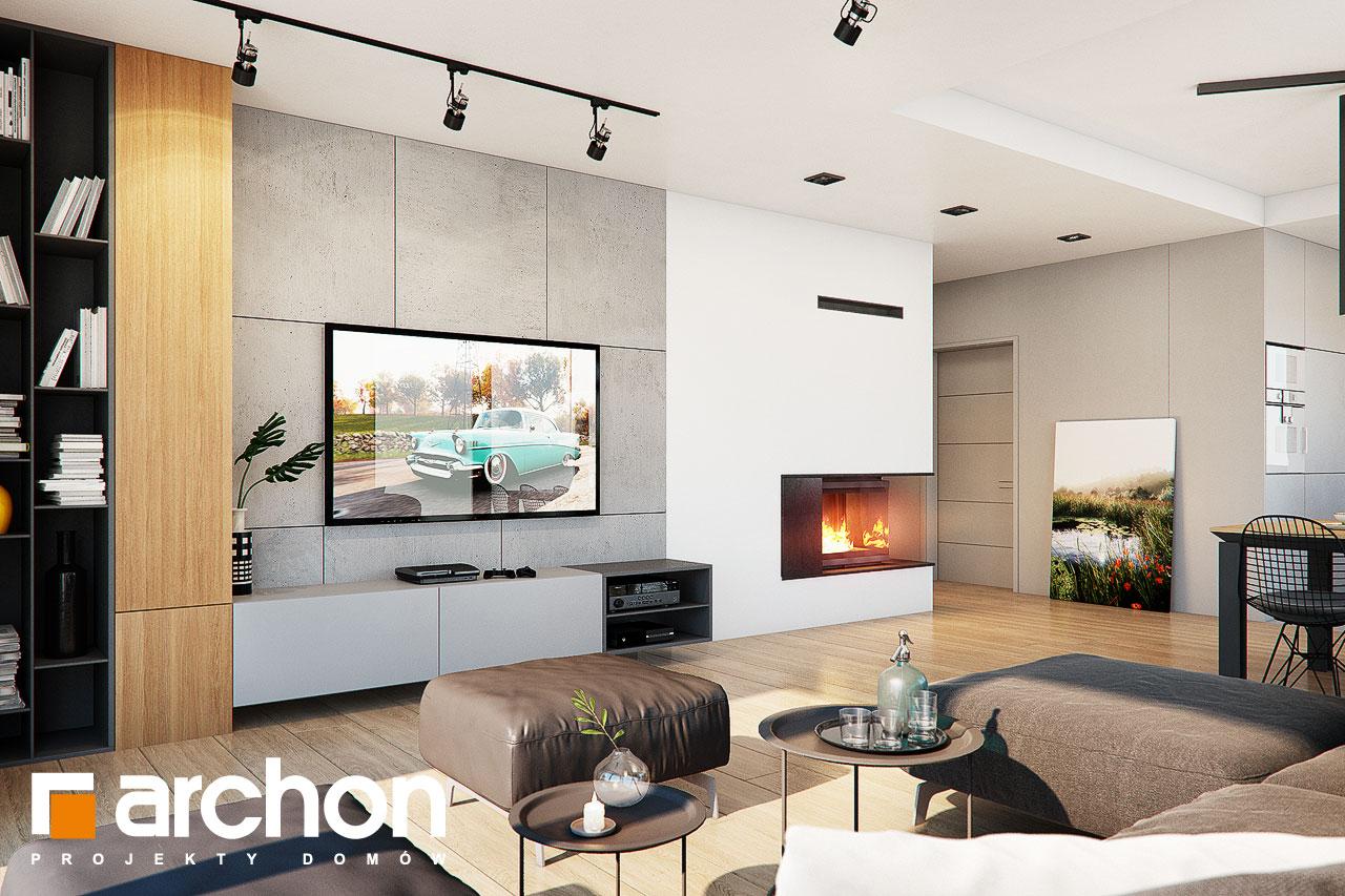 Проект будинку ARCHON+ Будинок в нігеллах 3 (Г2) денна зона (візуалізація 1 від 2)