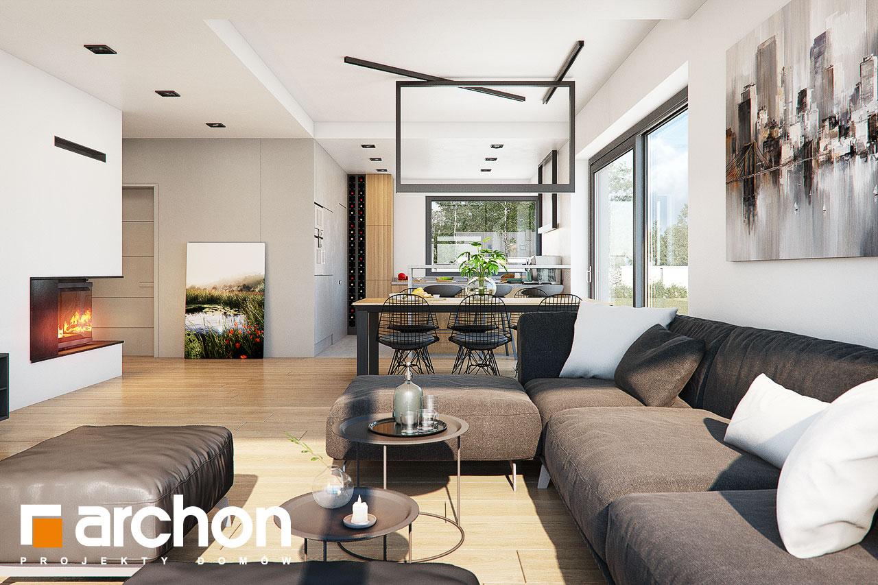 Проект будинку ARCHON+ Будинок в нігеллах 3 (Г2) денна зона (візуалізація 1 від 3)
