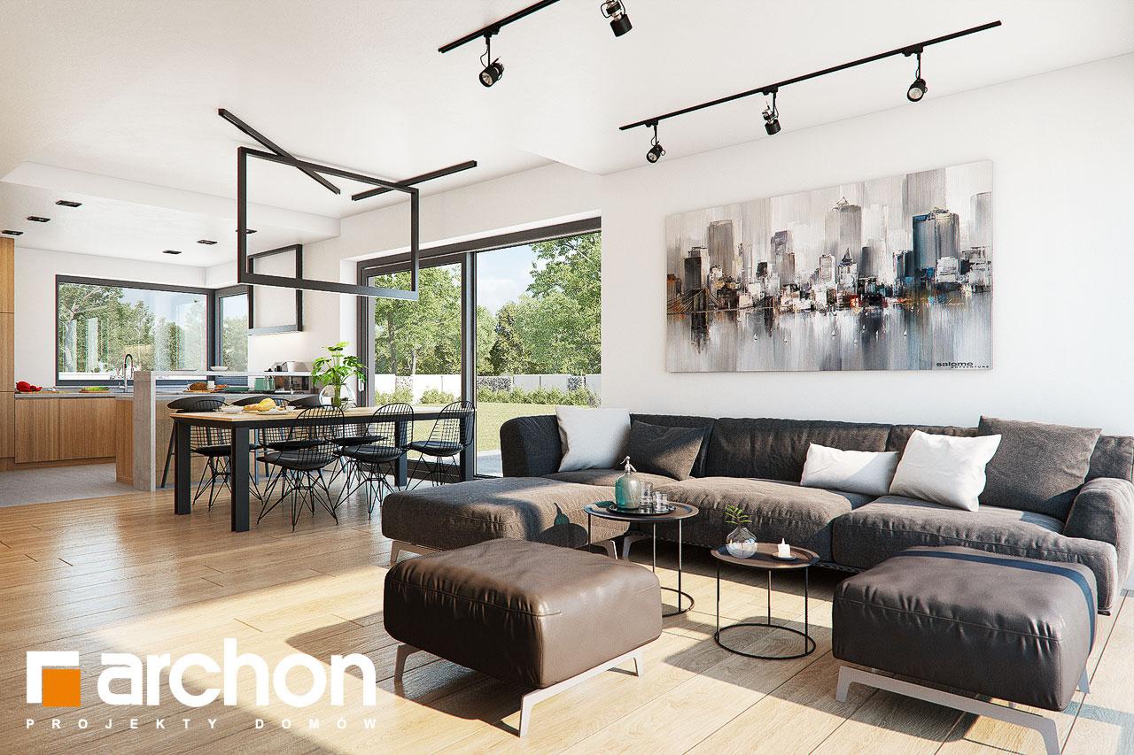 Проект будинку ARCHON+ Будинок в нігеллах 3 (Г2) денна зона (візуалізація 1 від 4)