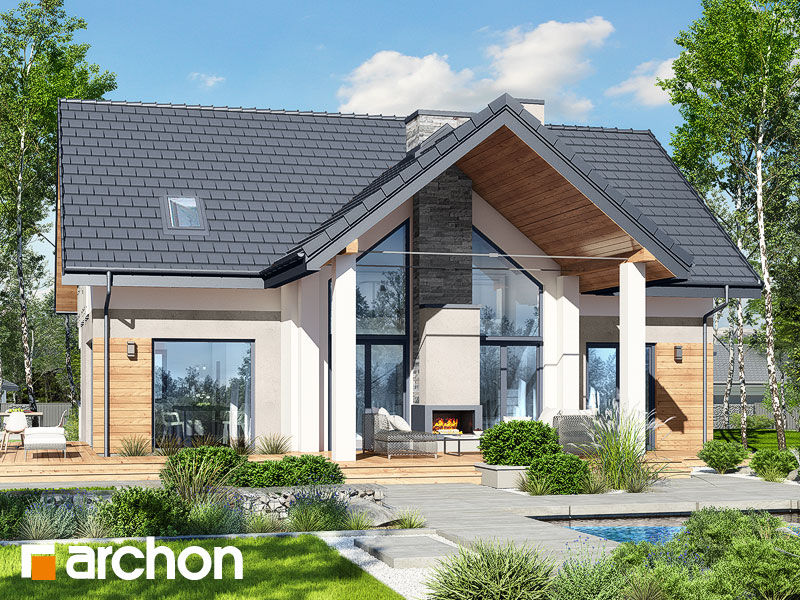Проект будинку ARCHON+ Будинок під софорою 3 Вид 1