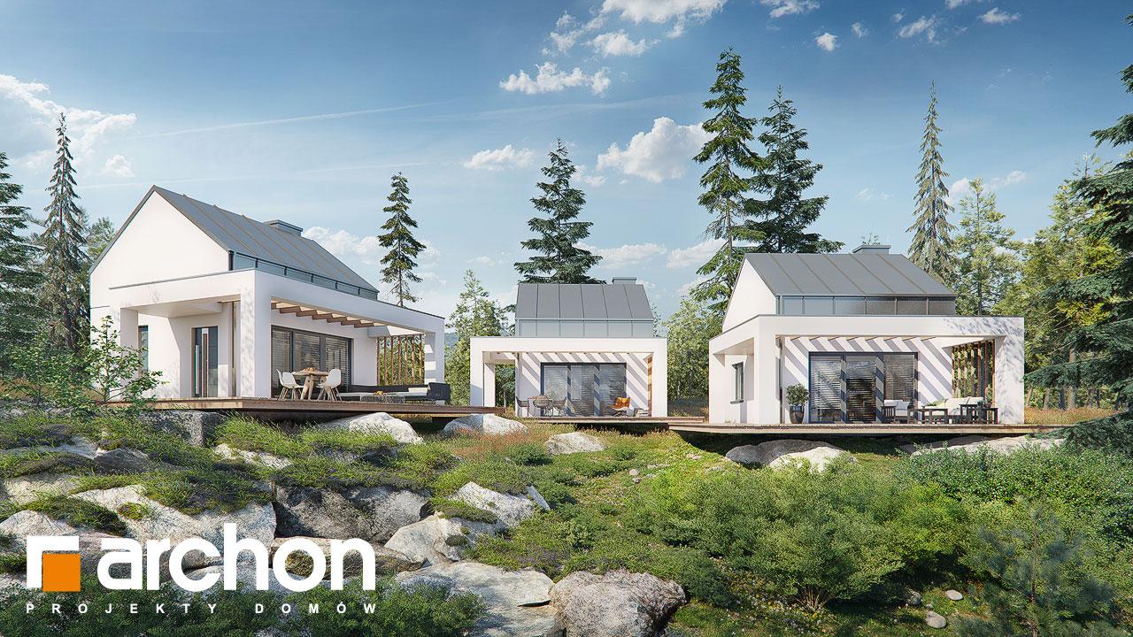 Проект будинку ARCHON+ Літній будиночок в крокусах 4 додаткова візуалізація